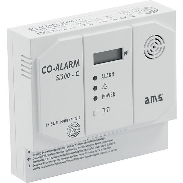 Kohlenmonoxidmelder mit Schaltkontakt, CO Kabelgebunden, 12V, Relais