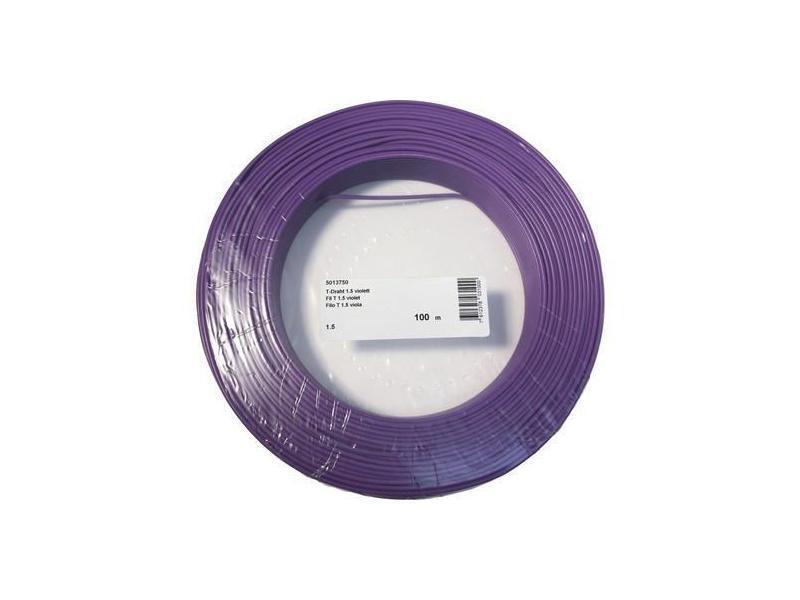 Hausinstallation Draht 1.5mm violett 100m