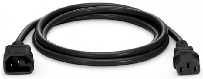 Kabel 230V USV C14 -C13 0.7m schwarz Kaltgerätekabel  PVC IEC320 Occasion