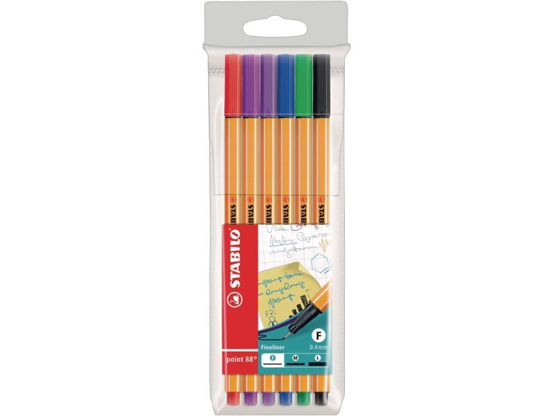 Filzschreiber Büro 6 Stk. Mehrfarbig 0.4mm