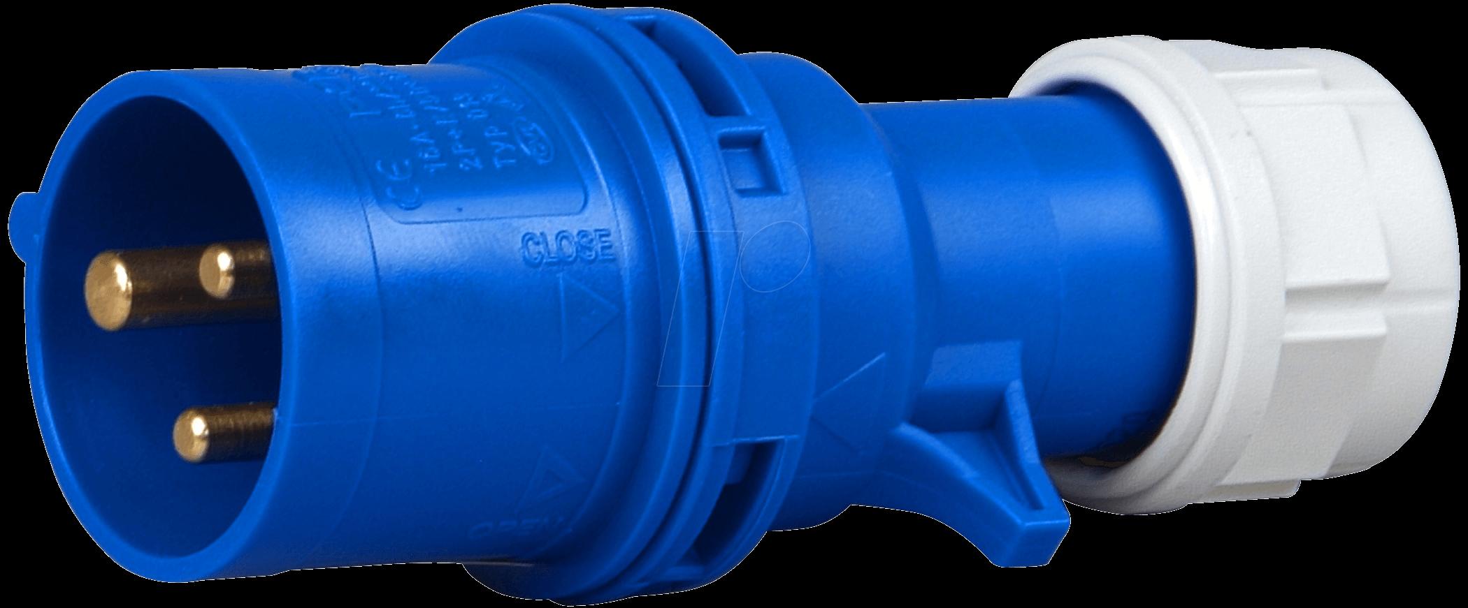CEE Stecker 16-3, 230V, 16A, blau