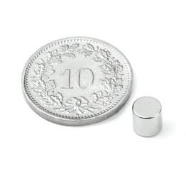 Scheiben-Magnet Durchmesser 5mm, Höhe 5mm, Kraft 0.9kg, Set à 10 Stk.