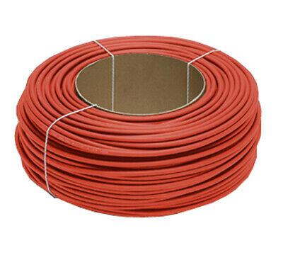 Solarlitze 6mm2 rot 100m Ring Kabel
