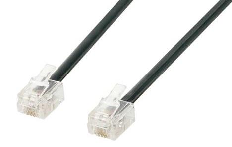 RJ11 (RJ12) Kabel 1.5m schwarz