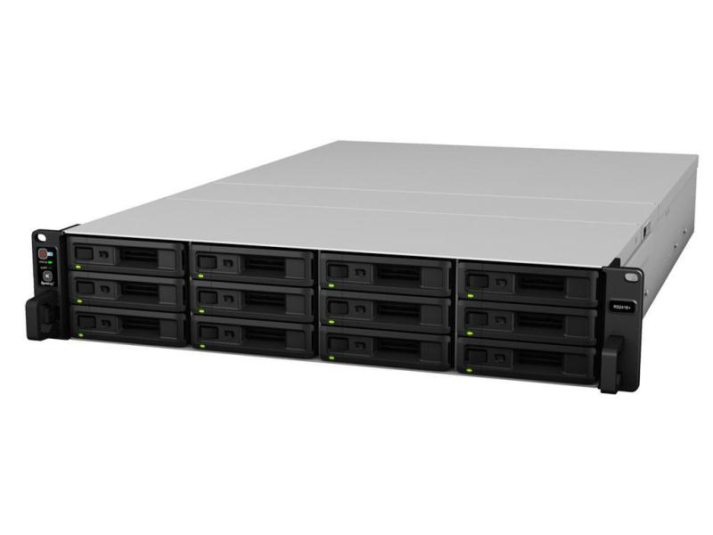 """NAS Synology RS2414RP+ 12-Bay 19"""" mit 6x4TB SSD verbaut"""