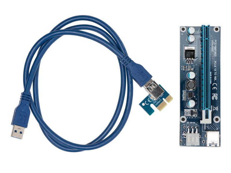 Mining PCIex1 auf PCIex16 Verlängerung 0.8m 6-Pin-Power