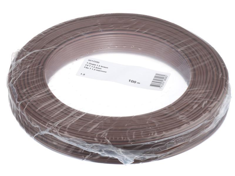 Hausinstallation Draht 1.5mm braun 100m
