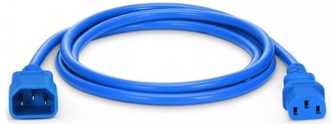 Kabel 230V USV C14 -C13 1.8m blau Kaltgerätekabel  PVC IEC320