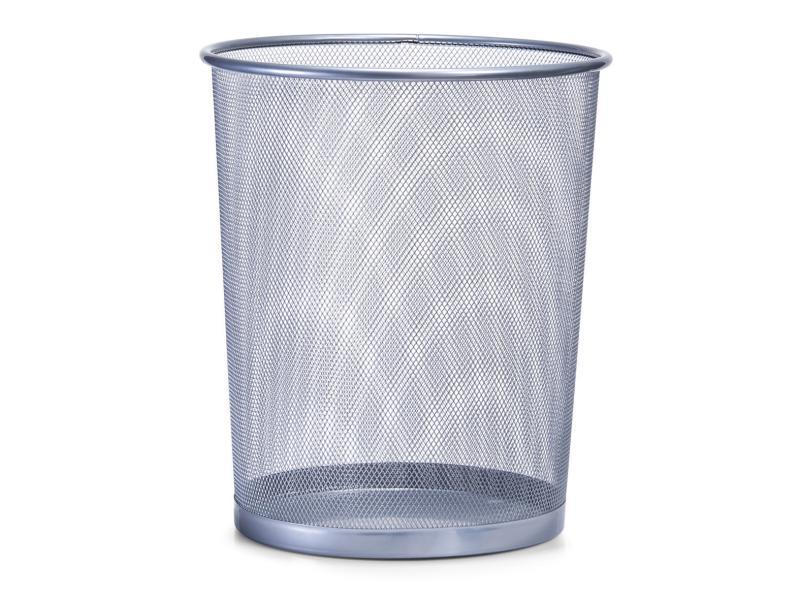 Papierkorb Drahtgeflecht Silber