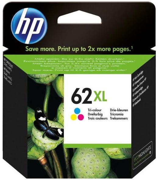 HP Tinte 62XL Color (C2P07AE) 415 Seiten