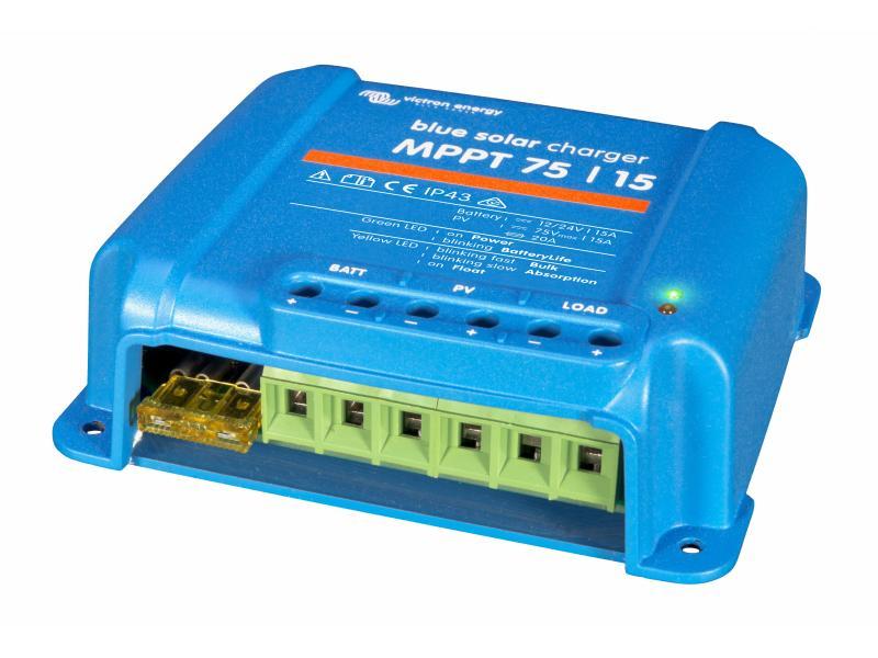 Laderegler MPPT Solar bis 75V, Akku 12V, 24V  10A (bei 24V 240W)